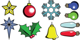 Christmas tree items vector Stock Images