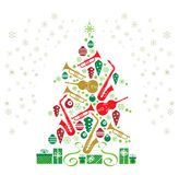 Christmas Tree Jazz vector illustration