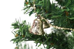 Christmas tree with jingle bells. Stock Photography