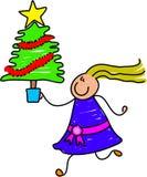 Christmas tree kid Royalty Free Stock Image