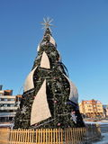 Christmas tree in Klaipeda, Lithuania Royalty Free Stock Photo