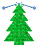 The christmas tree knitted on spokes Stock Image