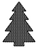 The christmas tree knitted Royalty Free Stock Images