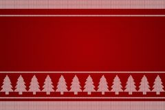 Christmas tree knitting background. Stock Photography