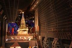 Christmas tree and Kyoto tower Royalty Free Stock Photos