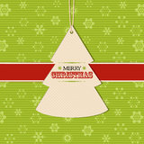 Christmas tree label background Royalty Free Stock Image