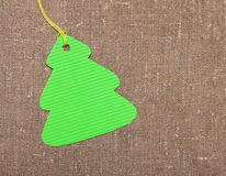 Christmas tree label tag Stock Photo