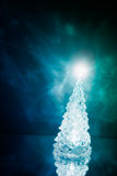 Christmas tree lamp light with reflection Stock Photos