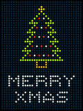 Christmas Tree on an LED Display Royalty Free Stock Photos