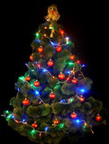 Christmas tree with led light. Royalty Free Stock Photos