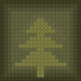 Christmas tree from lego block Stock Photo