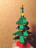 Christmas tree. Lego toys atoms Royalty Free Stock Images