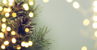 Christmas tree light. Art christmas tree light background Royalty Free Stock Photography