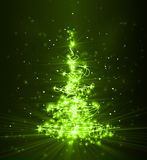Christmas tree from light Stock Photography