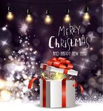 Christmas tree light background Royalty Free Stock Photo