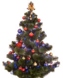 Christmas tree with light and ball. Stock Image