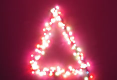 Christmas tree light blur stock photo
