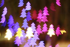 Christmas tree light bokeh. 6-pointed star bokeh, abstracts background, backdrop, celebrate, sparkle, Christmas, colorful, xmas, party stock photos
