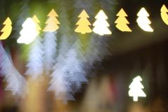 Christmas tree light bokeh. 6-pointed star bokeh, abstracts background, backdrop, celebrate, sparkle, Christmas, colorful, xmas, party royalty free stock image
