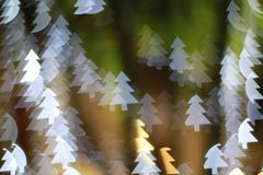 Christmas tree light bokeh. Star light bokeh, abstracts background, backdrop, celebrate, sparkle, Christmas, colorful, xmas, party royalty free stock images