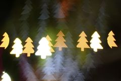 Christmas tree light bokeh. Star light bokeh, abstracts background, backdrop, celebrate, sparkle, Christmas, colorful, xmas, party stock image