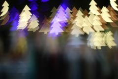 Christmas tree light bokeh. Star light bokeh, abstracts background, backdrop, celebrate, sparkle, Christmas, colorful, xmas, party stock photo