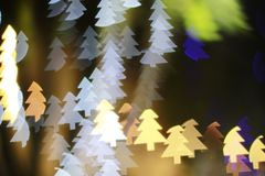 Christmas tree light bokeh. Star light bokeh, abstracts background, backdrop, celebrate, sparkle, Christmas, colorful, xmas, party royalty free stock photos