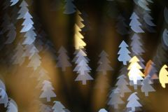 Christmas tree light bokeh. Star light bokeh, abstracts background, backdrop, celebrate, sparkle, Christmas, colorful, xmas, party stock images