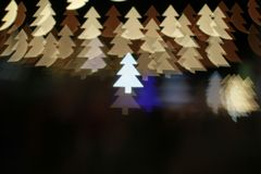 Christmas tree light bokeh. Star light bokeh, abstracts background, backdrop, celebrate, sparkle, Christmas, colorful, xmas, party stock photos