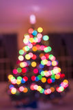 Christmas tree light bokeh on for background. Colorful christmas tree light bokeh for holidays background Royalty Free Stock Photography