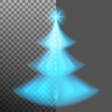 Christmas tree from light and bokeh. EPS 10 vector Stock Images