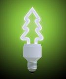 Christmas tree light bulb Stock Images