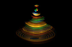 Christmas tree of light circles Stock Images