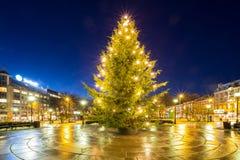 Christmas tree light stock photography