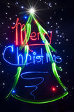 CHristmas Tree - Light Painting Abstract Royalty Free Stock Photo