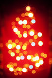 Christmas tree light pattern in blur Stock Image