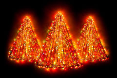 Christmas tree light shapes Royalty Free Stock Images