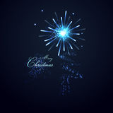 Christmas tree from light vector background Royalty Free Stock Image