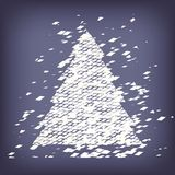 Christmas tree from light vector background Royalty Free Stock Images