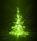 Christmas tree from light Royalty Free Stock Images