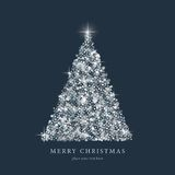 Christmas tree from light vector background Royalty Free Stock Photos
