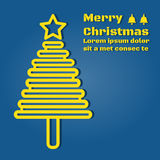 A Christmas tree light yellow Royalty Free Stock Photography