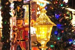 Christmas tree lighting Stock Images