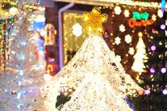 Christmas tree lighting Royalty Free Stock Images