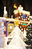 Christmas tree lighting Royalty Free Stock Photography