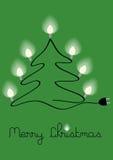 Christmas tree with lighting bulbs Royalty Free Stock Photography