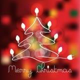Christmas tree with lighting bulbs Royalty Free Stock Photo