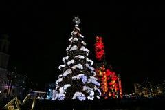 Kaunas, Lithuania - December 1, 2018: Christmas Tree Lighting. stock image
