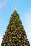 Christmas tree with lighting decorate Royalty Free Stock Photos
