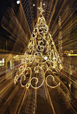 Christmas tree with lightpainting Stock Photos